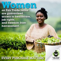 I chose this picture because fair trade does help improve the lives of people in other countries.
