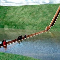 Sunken Pedestrian Bridge in the Netherlands Parts Moat Waters Like Moses! The Bridge connects Fort de Roovere, an ancient century fort with the mainland. Places Around The World, Oh The Places You'll Go, Places To Travel, Travel Destinations, Places To Visit, Around The Worlds, Adventure Is Out There, Rotterdam, Dream Vacations