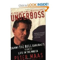 Underboss: Sammy the Bull Gravano's Story of Life in the Mafia. I am obsessed with mafia books! Date, Used Books, Books To Read, Nex York, Mafia Crime, Gangster Films, Mob Wives, True Crime Books, Reading Rainbow