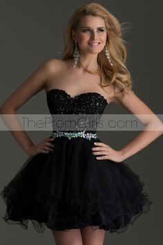 2015 Modest Sweetheart A Line Short/Mini tulle Homecoming Dress With Applique Beaded - 2015 Homecoming Dresses - shop dresses $156.99