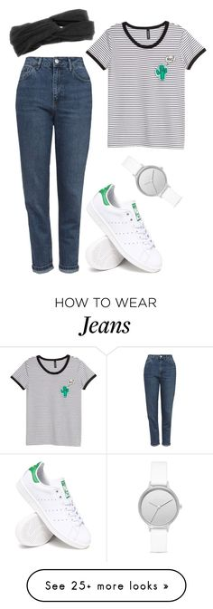 """""""Untitled #2277"""" by moria801 on Polyvore featuring Topshop, adidas, Brooks and Skagen"""