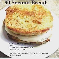 "116 Likes, 34 Comments - Keto_Kimberly (@keto_kimberly) on Instagram: ""Here is the 90 second bread recipe I used yesterday. I melted the butter first, then added the…"""