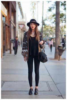 La moda de todos los días en las calles de Los Ángeles.