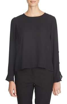 CeCe by Cynthia Steffe 'Georgette' Ruffle Sleeve Chiffon Blouse available at #Nordstrom