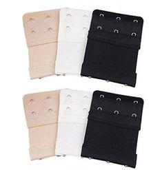 Demarkt 3 Pcs Women Ladies Comfortable Bra Extender Strap 2-Hook 2 Rows Soft Back Bra Band Extension Strap