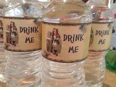 Alice in Wonderland Drink Me Waterbottles