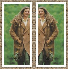 Instant PDF Download Vintage Row by Row Quick Knitting Pattern to make a Ladies Superb Chunky Baggy Over-sized Moss Stitch Coat or Jacket