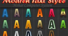 Modern Text Style   3D Text  Styles    SIX Golden style    King Text Style     &...