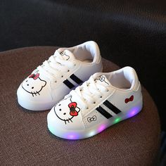 2018 Fashion Lovely LED lighting shoes kids Cute princess baby boys girls  shoes hot sales glowing 1aac11624672
