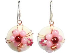 BDJ Mother of Pearl & Pink Chalcedony Handmade Drop Dangling Earrings Bijoux De Ja http://www.amazon.com/dp/B00DE9HMFK/ref=cm_sw_r_pi_dp_SQV-vb18PY3BK