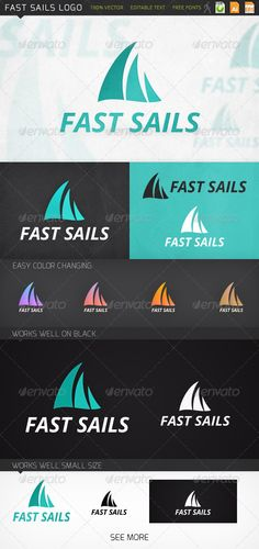 Fast Sails Marine  - Logo Design Template Vector #logotype Download it here: graphicriver.net/...