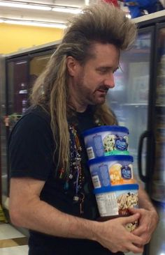 People of Walmart....all the ice cream. I love it