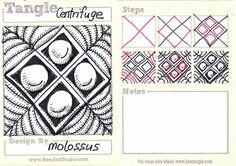 Life Imitates Doodles: My Tangle Patterns: Centrifuge, Kinder and Nebulous