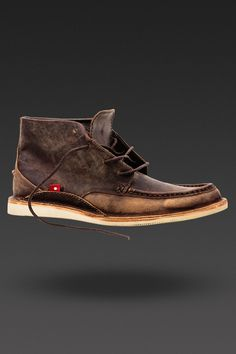 image of Men's Mogado Hi in Brown/Yellow Pullup