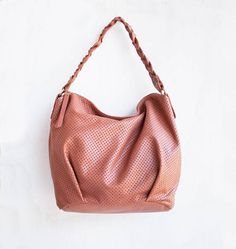 Leather Braid Hobo Bag by morelle