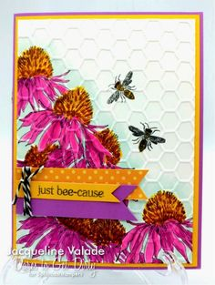 I masked the cone flower from Stampers Anonymous/Tim Holtz' Flower Garden stamp set so I could stamp it several times. I colored everything with Copic markers then embossed the entire panel before adhering to the card base. I hand-cut a few flags and tied them with bakers twine. Want more details about Lee's challenge??? Fly on over to Dare To Get Dirty forum and read all about it. http://www.splitcoaststampers.com/forums/dare-get-dirty-f150/ Not a Fan ...