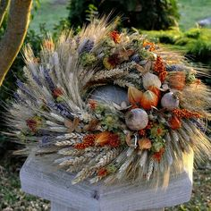 Dried Flower Wreaths, Wreaths And Garlands, Dried Flowers, Autumn Wreaths, Holiday Wreaths, Flower Factory, Deco Floral, Nature Decor, Fall Decor