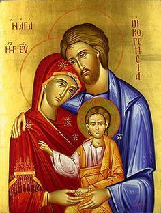 The Holy Family Greek Orthodox Icons, Byzantine Icons, Greek Icons