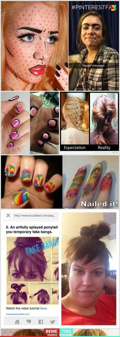 10+ Regrettable Pinterest Beauty Fails #pinterest #fail #funny #diy #beauty #photos