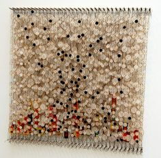 wowgreat:    Jacob Hashimoto, Circumstances and Coincidences, 2009 (by 16 Miles of String)