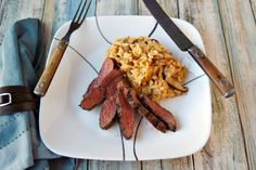 Ostrich loin is very lean, packed with protein, and delicious!  If you haven't tried ostrich meat before, then try this simple Grilled Ostrich Loin with Easy Risotto.  It's a meal that can be on the table in about 20 minutes any night of the week! Ostrich Meat, Chicken Paillard, Flavored Olive Oil, Date Night Recipes, Low Sodium Chicken Broth, Risotto Recipes, Multicooker, Calorie Diet, Grilling