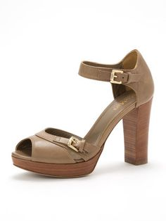 MaxMara - Leather Separate Bell Ted sandals