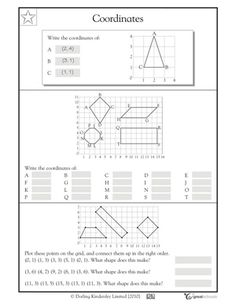 5th grade math worksheets slide show - Worksheets and Activities - Finding coordinates | GreatSchools