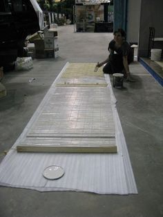 Paint bamboo blinds