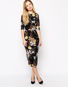Enlarge ASOS TALL Jersey Print Wiggle Dress