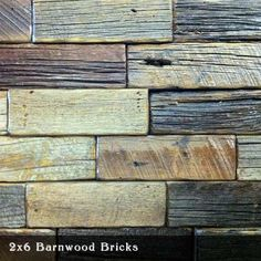 Reclaimed barnwood tiles with beeswax finish. Would look nice as a backsplash in a white kitchen