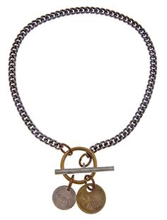 Capture Necklace  Basic metal chain and a brilliantly designed over-sized SALVAGED toggle clasp, Capture will coolify any look with an essence of edgy, yet surprisingly sophisticated.