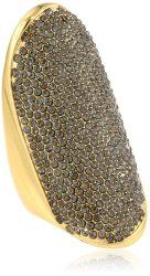 Flights of Fancy Gold Full Pave Adjustable Ring #unusualengagementrings