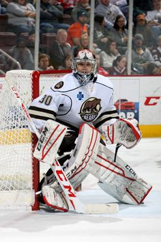 95e0fa7de60 03.31.15 - Hershey Bears goaltender Pheonix Copley. Photo courtesy of  JustSports Photography Washington