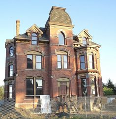 104 Edmund Place--Detroit MI    An 1885 mansion in Brush Park has been renovated as a condominium project. It was originally the home of lumber baron Lucien Moore.