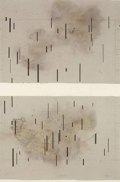 John Cage / Global Village (Diptych), Aquatint on brown smoked paper Graphic Score, Poesia Visual, Abstract Drawings, Abstract Art, Experimental Music, John Cage, Fluxus, Sound Art, Thing 1