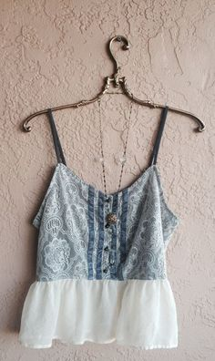 Violet Lace and velvet trim Crop camisole