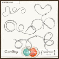 Sweet String {CU or PU} #Oscraps #products #scrapbookdigital #sales #lineascrap #CU #scrapbook #digital
