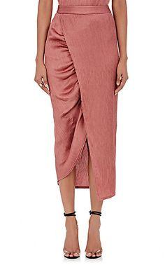Sies Marjan Plissé Wrap Pencil Skirt at Barneys New York Satin Pencil Skirt, Pencil Skirt Outfits, Pencil Skirts, Pencil Dresses, Everyday Dresses, Blouse Styles, Designing Women, Divas, Fashion Dresses