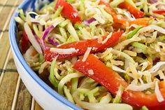 Have mung beans sprouting now to make this!  Bean Sprouts and Broccoli Slaw Salad with Coconut-Ginger Dressing