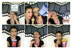 movie photo booth props - perfect for a movie night, oscar bash, hollywood party or cinema birthday. $14.99, via Etsy.