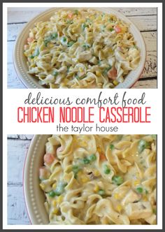 Blog post at The Taylor House : When you think of COMFORT FOOD what do you think of?  For me, it's Chicken and Noodles - whenever we had colds or were feeling under the we[..]