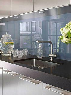 fliesenspiegel glas küchenrückwand plexiglas blau