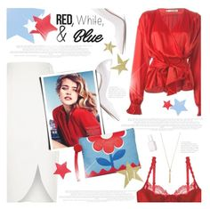 """""""Red, White and Blue Fashion"""" by monazor ❤ liked on Polyvore featuring Christian Dior, River Island, Gianvito Rossi, Dita Von Teese, Kenneth Jay Lane, Arizona, Essie, Elegant, redwhiteandblue and summerstyle"""