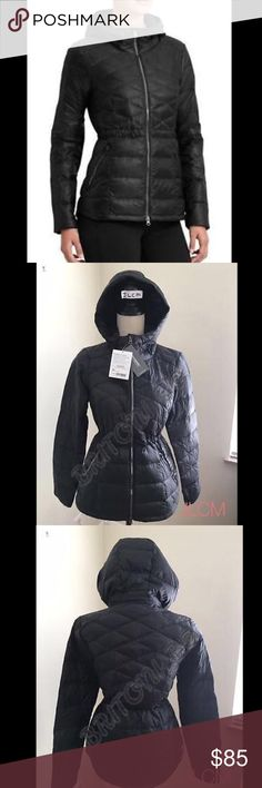 "NWT ATHLETA ""DOWN WITH IT"" COAT Designed to hit at the low hip for almost complete CYA coverage, this Insul8 down jacket features a flattering cinch waist shape and wind-resistant, water-repellant outer fabric. INSPIRED FOR: adventure To Fro Two-way front zip for ventilation and enhanced mobility, hood with interior cinches for a custom fit,  Mix of diamond and straight channel quilting for superior warmth distribution  Elastic cuffs trap in warmth, two front angled zip pockets (left - media…"