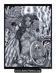 Aztec Warriors Tattoos With Meaning 02 - http://aztectattoo.org/aztec-warriors-tattoos-with-meaning-02/