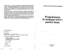 (PDF) Emanuela Cerchez, Marinel Serban - Programare Liceu c/c++ 1 Math Equations