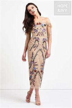 Buy Hope & Ivy Bardot Embroidery Dress from the Next UK online shop