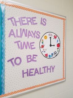 Julie botkin on pe - bulletin boards Cafeteria Bulletin Boards, Valentines Day Bulletin Board, Teacher Bulletin Boards, Bulletin Board Borders, Back To School Bulletin Boards, Birthday Bulletin, Kayla Itsines, School Cafeteria Decorations, Office Decorations