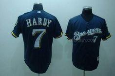 http://www.xjersey.com/brewers-7-hardy-dark-blue-jerseys.html BREWERS 7 HARDY DARK BLUE JERSEYS Only 32.17€ , Free Shipping!