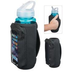 Neoprene Bottle Kooler with Phone Holder SKU 81AGK